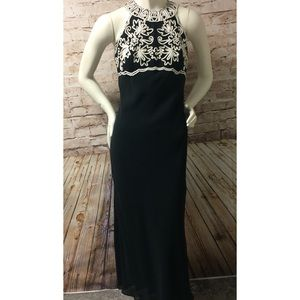 Jessica McClintock Gunne Sax Halter Black Dress